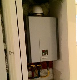 tank less water heater and hot water tank replacement