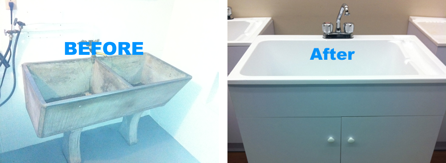 washroom sink repair and installation north vancouver